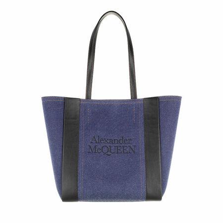 Alexander McQueen  Tote - Logo Tote Bag - in blau - für Damen