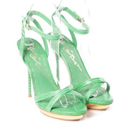 Alice + Olivia  High Heels in Grün und Gold Gr. D 37 Second Hand gruen