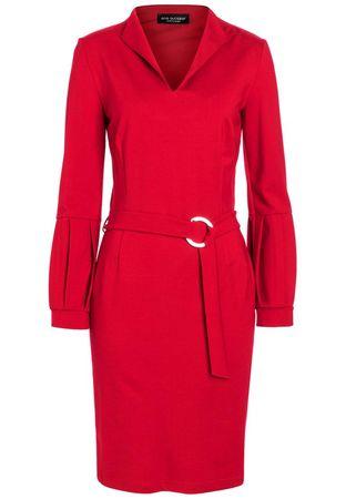 Ana Alcazar  Gürtel Kleid Resyly Rot rot