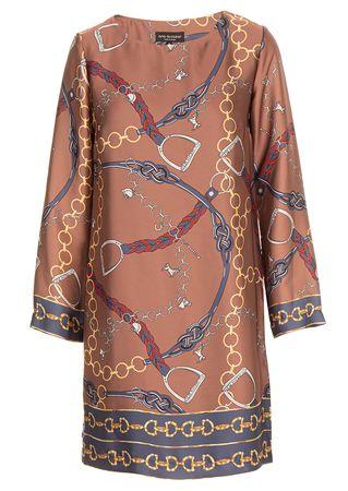 Ana Alcazar Kleid mit Foulard-Print braun