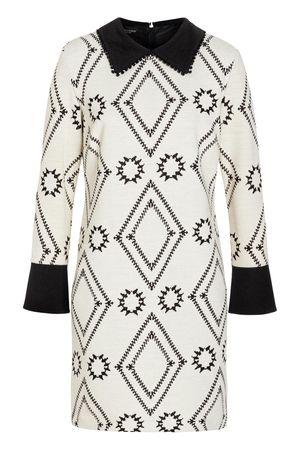 Ana Alcazar  Kragen Kleid Vafonte Weiß grau