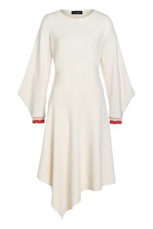 Ana Alcazar  Midi Kleid Vaduly Offwhite braun