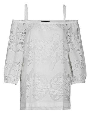 Ana Alcazar  Offshoulder Top White Fernandy braun