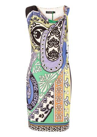 Ana Alcazar Stretch-Kleid mit buntem Print grau