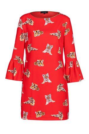 Ana Alcazar  Tiger Kleid Vabere rot