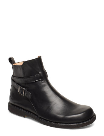 Angulus 7109 Shoes Boots Ankle Boots Ankle Boots Flat Heel Schwarz  schwarz