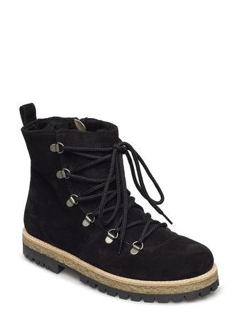 Angulus Boots - Flat - With Laces Stiefelette Ohne Absatz Schwarz  schwarz