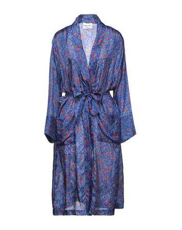 Antik Batik  36 Damen Dunkelblau Lange Jacke Seide blau