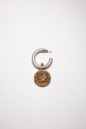 Acne Studios  FN-UX-JEWE000207 Antique silver/antique gold  Coin earring