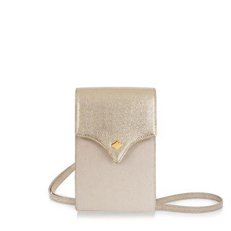 Any Di PhoneBag Emblem,  in Gold Sand braun