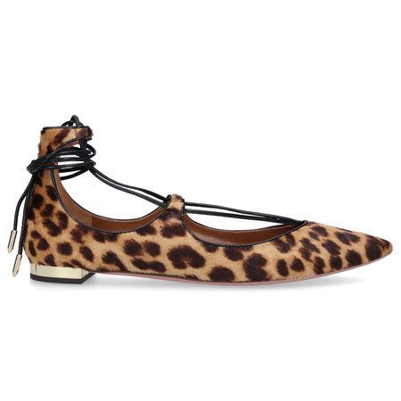 Aquazzura  Ballerinas CHRSITY FLAT  Pony Leo Print leopard braun