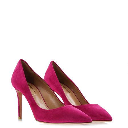 Aquazzura  - Pumps Simply Irresistible aus Veloursleder pink