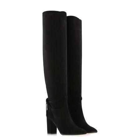 Aquazzura  - Stiefel Milano aus Veloursleder schwarz