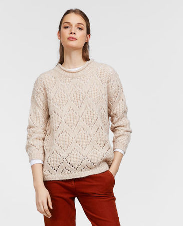 Aspesi  Alpaca- und Wollsweater Damen | Eis grau