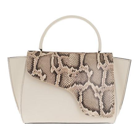 ATP Atelier  Satchel Bag  -  Medium Tote Beige Ice White  - in weiß  -  Satchel Bag für Damen braun