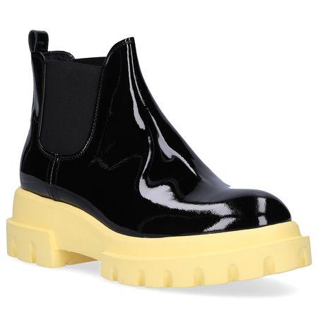 Attilio Giusti Leombruni AGL  Chelsea Boots D756502 Kalbsleder  Lackleder schwarz schwarz
