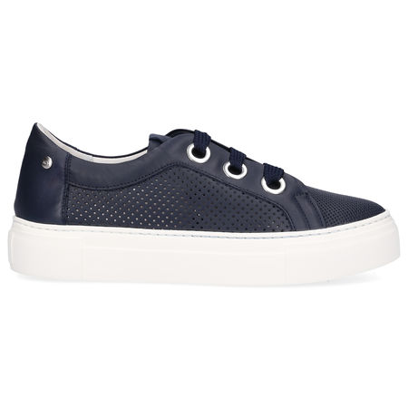 Attilio Giusti Leombruni AGL  Sneaker low 925173 Kalbsleder Lochmuster Logo blau grau