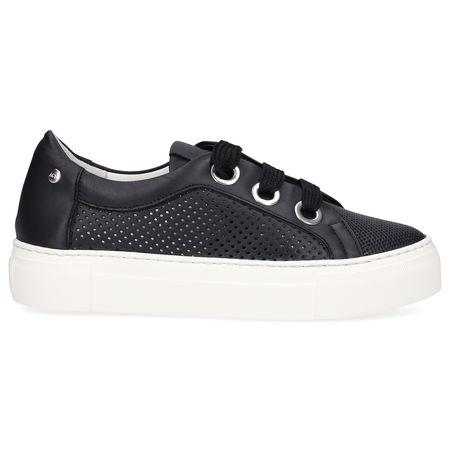 Attilio Giusti Leombruni AGL  Sneaker low 925173 Kalbsleder  Lochmuster Logo schwarz grau