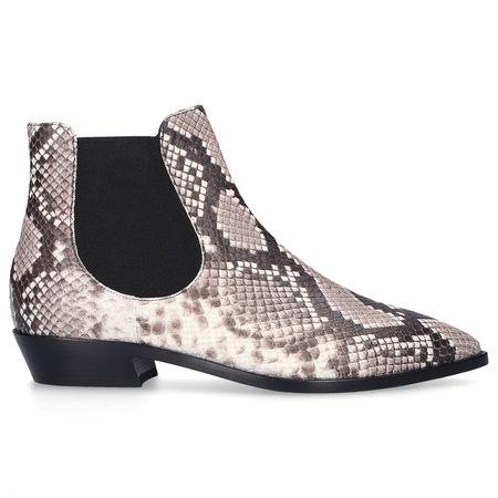 Attilio Giusti Leombruni Chelsea Boots D530534 Kalbsleder Print beige schwarz