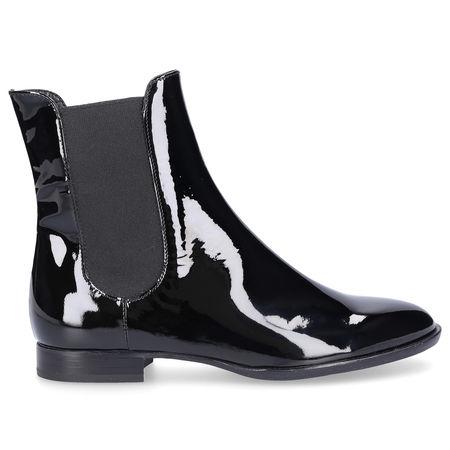 Attilio Giusti Leombruni Chelsea Boots D714516 Lackleder schwarz schwarz