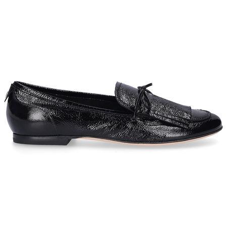 Attilio Giusti Leombruni Loafer D744009 Lackleder Fransen schwarz schwarz