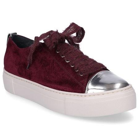 Attilio Giusti Leombruni Sneaker low D925065 Lackleder Veloursleder bordeaux braun