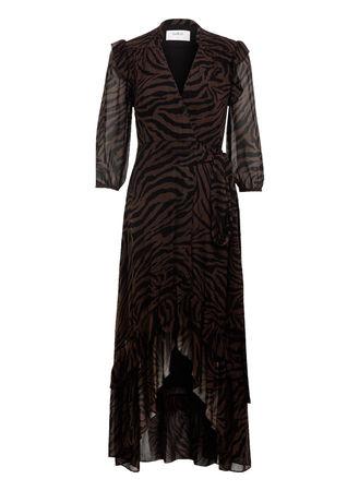 ba&sh  Kleid Selena beige schwarz