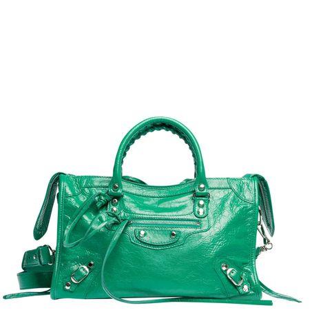 Balenciaga ® - Schultertasche aus Leder in Grün für Damen, Größe UNI gruen
