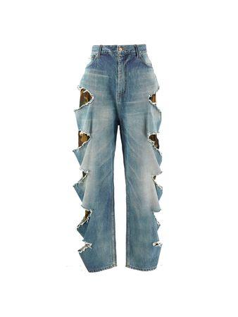 Balenciaga  - Baggy-Jeans 'Slashed' in Blau