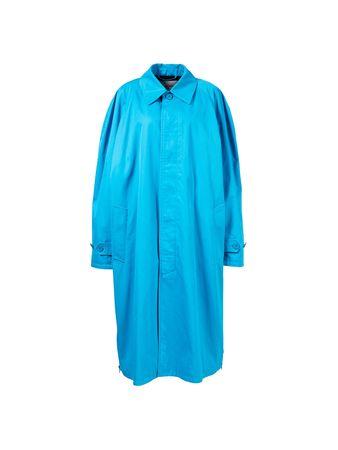 Balenciaga  - Baumwoll-Carcoat mit Reißverschlussdetails Blau blau