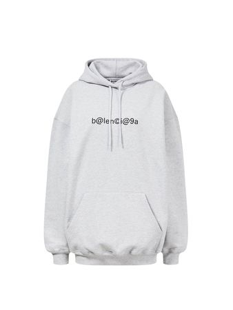Balenciaga  - Baumwoll-Hoodie mit Logo-Print Grau grau