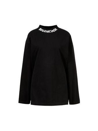 Balenciaga  - Baumwoll-Longsleeve Oversized Schwarz