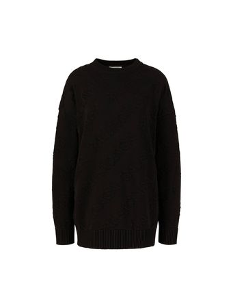 Balenciaga  - Baumwoll-Pullover Schwarz