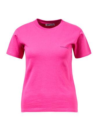 Balenciaga  - Bedrucktes T-Shirt Pink 100% Baumwolle Das Mode ist 180 cm und trägt Größe XS Maße der Größe XS: - Gesamtlänge: ca 58 cm - Brustweite: ca 41 cm pink