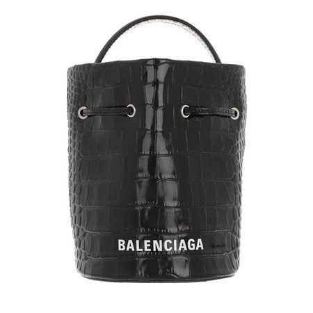Balenciaga  Beuteltasche - Everyday Drawstring Bucket Bag XS - in black - für Damen