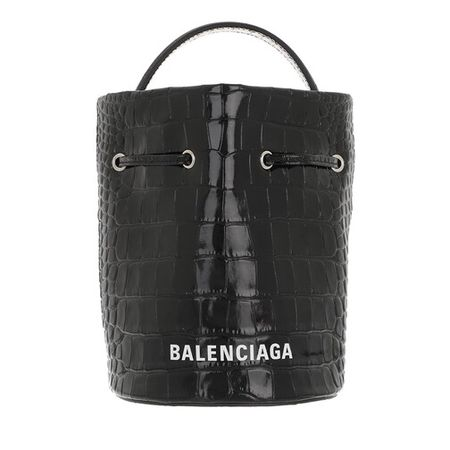 Balenciaga  Beuteltasche - Everyday Drawstring Bucket Bag XS - in schwarz - für Damen