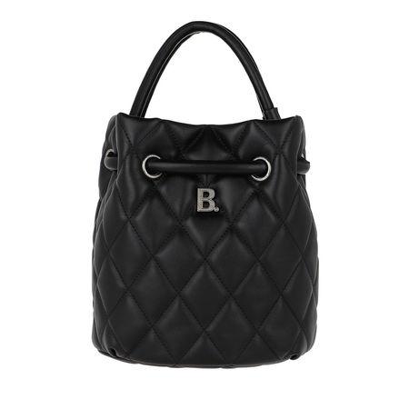 Balenciaga  Beuteltasche  -  Quilted B Line Bucket Bag Leather Black  - in schwarz  -  Beuteltasche für Damen schwarz