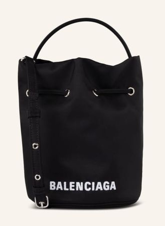 Balenciaga  Beuteltasche Wheel schwarz