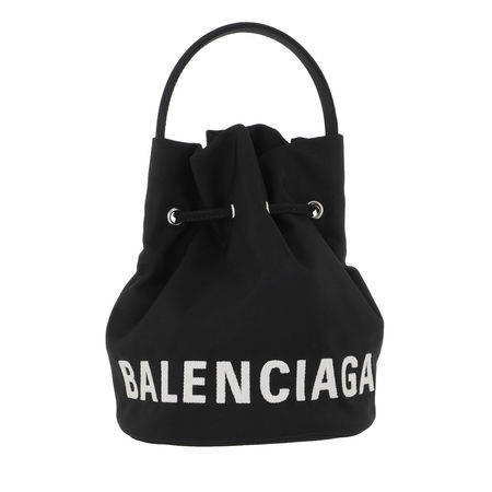 Balenciaga  Beuteltasche  -  Wheel XS Bucket Bag Black  - in schwarz  -  Beuteltasche für Damen schwarz
