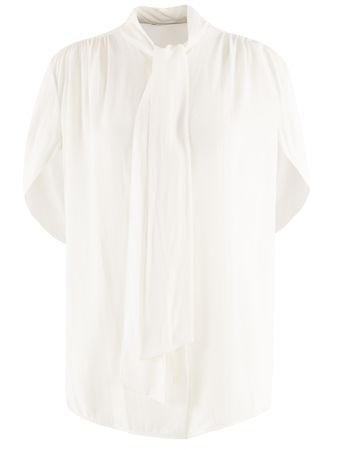 Balenciaga  - Bluse aus Seide weiss