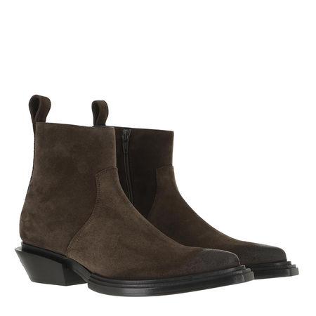 Balenciaga  Boots & Stiefeletten - Santiago Bootie Leather - in grün - für Damen grau
