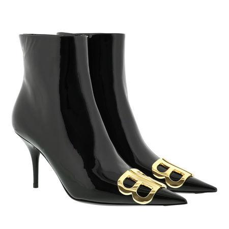 Balenciaga  Boots  -  BB Ankle Boots Patent Leather Black  - in schwarz  -  Boots für Damen grau
