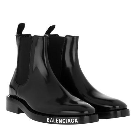 Balenciaga  Boots  -  Booty Logo Black  - in schwarz  -  Boots für Damen schwarz
