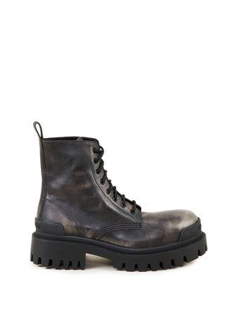 Balenciaga  - Boots 'Strike-up L20' Schwarz