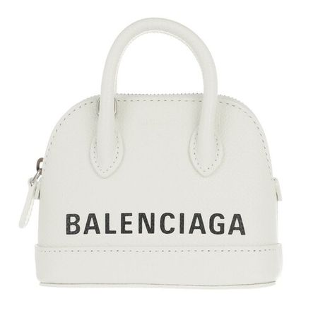 Balenciaga  Bowling Bag - Mini Top Handle Bag Leather - in weiß - für Damen