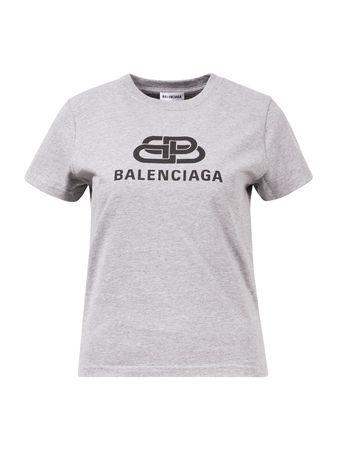 Balenciaga  - Brand Shirt mit Logoaufdruck Grau grau