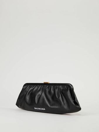 Balenciaga  - Clutch 'Cloud' Schwarz grau