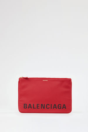 Balenciaga  - Clutch 'Ville Pouchette' Medium Rot