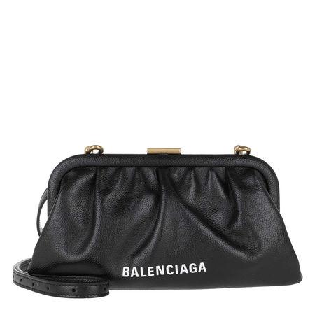 Balenciaga  Clutch  -  XS Cloud Clutch Grained Black  - in schwarz  -  Clutch für Damen grau