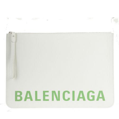Balenciaga  Clutches - Clutch Leather - in white - für Damen grau